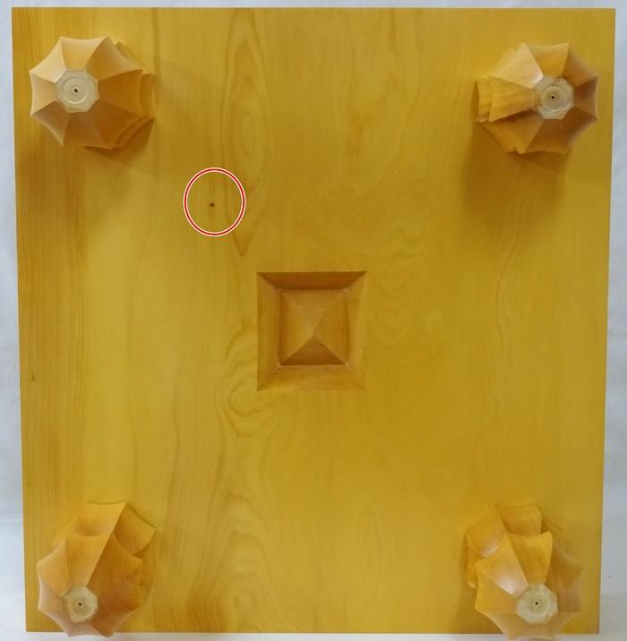 碁盤 榧 3寸3分