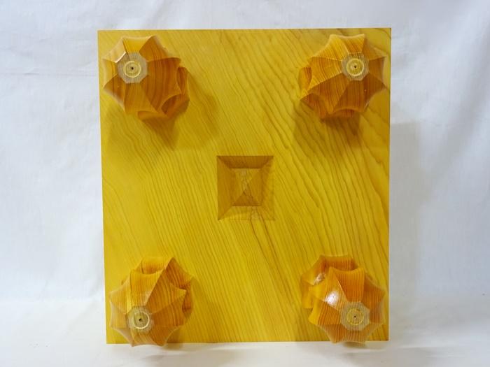 将棋盤 中国榧 5寸9分 四方木口
