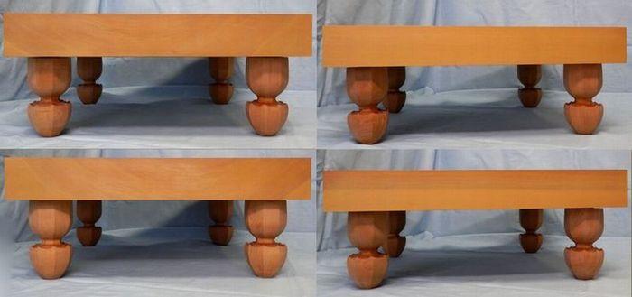 碁盤 桂 2寸 脚付