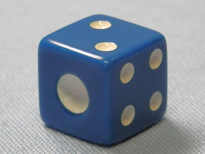 サイコロ 青