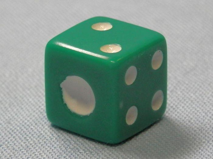 サイコロ 緑